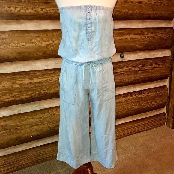 b37928e50860 cloth   stone Dresses   Skirts - Cloth   Stone Chambray Denim Strapless  Jumpsuit
